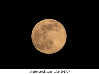 Full moon on  the sky yellow