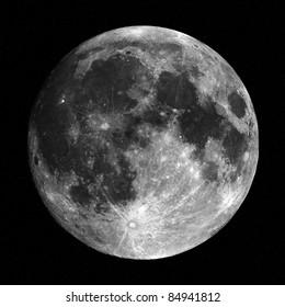 full moon on star field