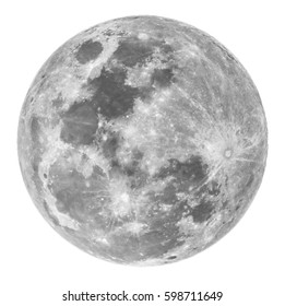 full moon on a white background