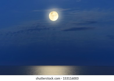 Full Moon Over The Black Sea