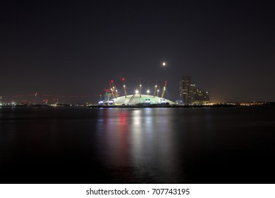 Full Moon Over O2 Arena in London,London UK,September 2 2017