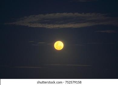 full moon over Simon's Town, False Bay, South Africa