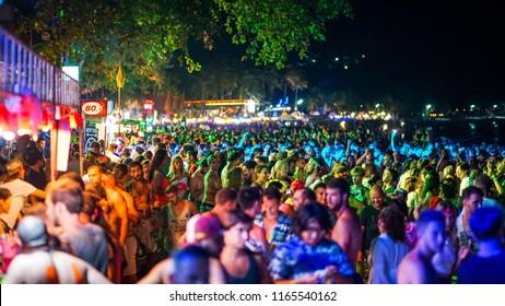 full moon party at koh phangan Suratthani  Thailand 26 August 2018