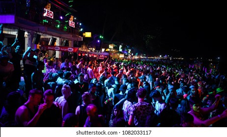 Full Moon Party  Koh Phangan,Thailand 29 April 2018