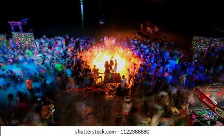 Full moon party at Kohphangan Suratthani Thailand June 27 2018