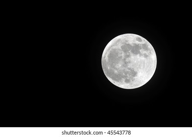 Full moon photographed on january 29, 2010. The moon was at its brightest for the year 2010 on this day
