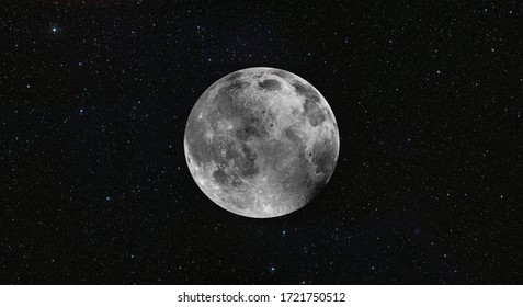 Full  Moon in the space