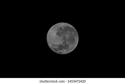 Full moon view in clear night