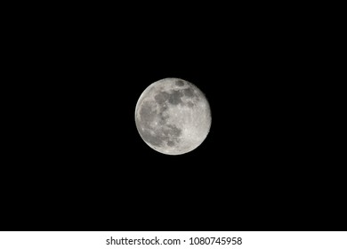 Full Moon with Visible Shadows and Craters