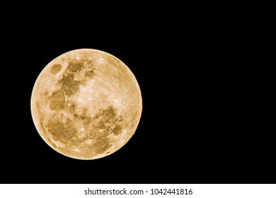 Full moon yellow on a black background.