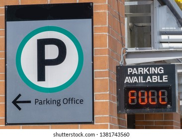 Full Parking Sign on parking structure