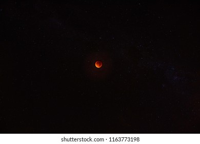 full red moon on a night sky