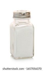 full salt shaker isolated on white