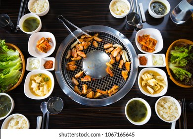 Full set of dried or grilled hotpot, prepare for main meal
