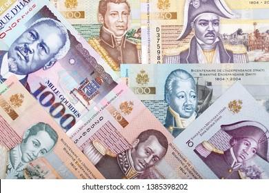 Full set of Haitian money, a business background