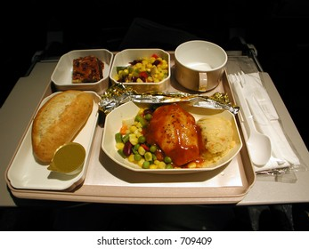 full set of inflight meal