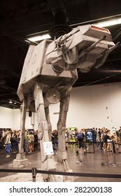 A full size replica of an At-At at the Star Wars Celebration in Anaheim, California, April 2015.