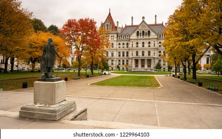 Full Size sculpture on the lawn in front of the New York statehouse in Albany