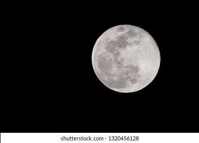 The Full Super Snow Moon, 2019's Largest and Brightest Supermoon.