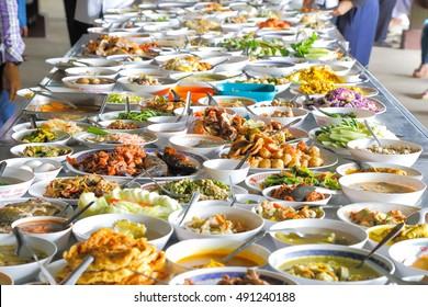 Full  table of Thai local food