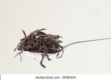 full teaspoon of black tea
