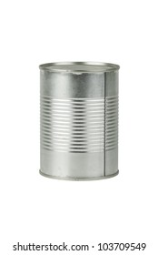 Full tin can  isolated on the white background