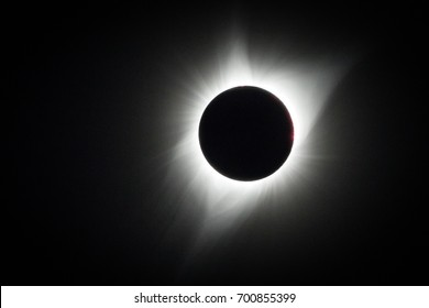 Full totality during the 2017 solar eclipse, Wyoming, USA.