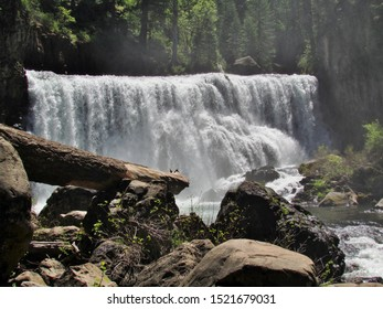 Full view of Middle Falls in McCloud, California.  One of a series of three beautiful falls.