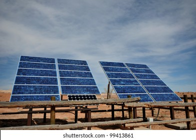Full view of solar panel cells with copy space