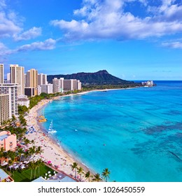 Full view of Waikiki Beach