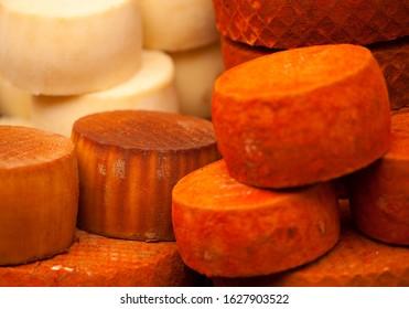 full wheels of local cheese, Gran Canaria, village fiesta in Tenteniguada, Valsequillo municipality
