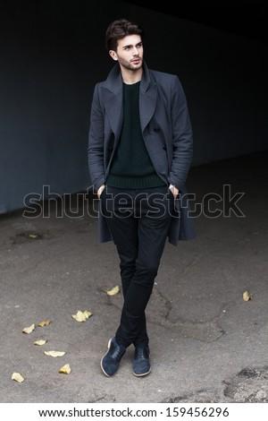 Fulllength Outdoor Fashion Male Portrait Stock Photo (Edit