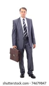 full-length portrait of stylish businessman