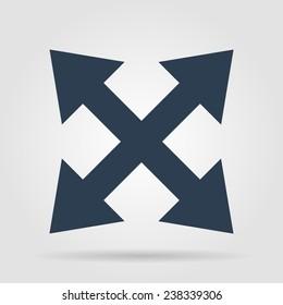 Fullscreen sign icon. Arrows symbol. Icon for App.
