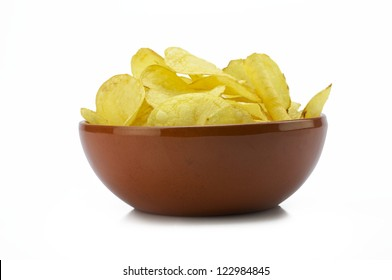 Fully bow of potato chips