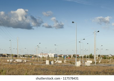 Fully infra-structured vacant lots ready for construction in the industrial park of Evora, Portugal