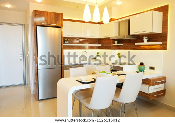 Fully Stacked Open Plan Kitchen Living Stock Photo (Edit Now ...