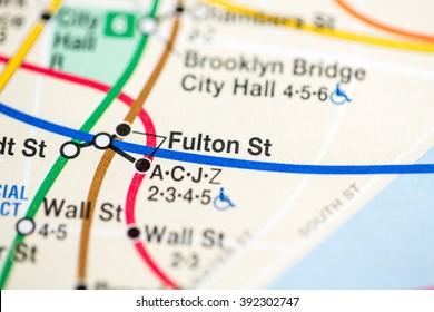 Fulton St. Nassau Street Express Line. NYC. USA