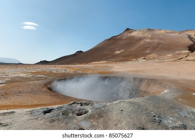 fumaroles in Námafjall in Iceland