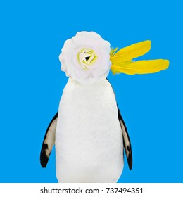 penguin with flowers images stock photos vectors shutterstock