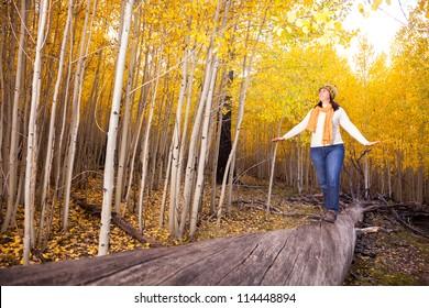 Fun Autumn Walk Through the Woods