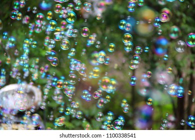 Fun bubbles at an outside party