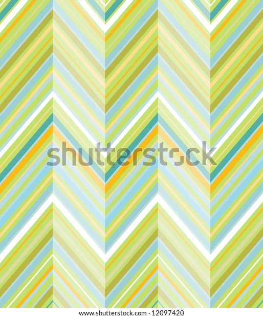 Fun and colorful background of diagonal lines in shades of lime, teal, olive and orange
