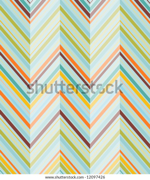 Fun and colorful diagonal pattern with vibrant shades of turquoise, lime, orange and chocolate brown