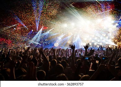 Fun concert party disco light background
