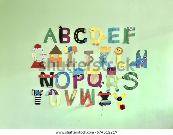 Fun Educational Animals Alphabet Wall Decoration Stock Photo Edit Now 674512219