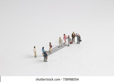 the fun figure cross the bar code