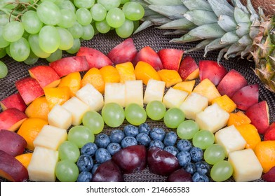 Fun food. Fruit rainbow