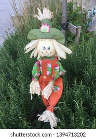 Fun in the garden with this scarecrow, adding to the scarecrow festival in saddleworth
