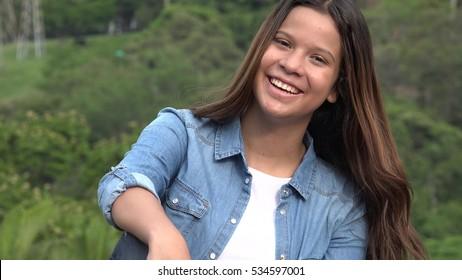 Fun And Happy Teen Girl